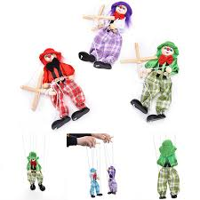 string puppet 1pcs pull string puppet clown wooden marionette toys vintage