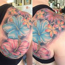 35 black u0026 grey and colorful hibiscus tattoos