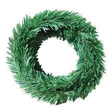 home green pine needle garland vine 5 5m green leaf