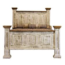 White Washed Bedroom Furniture by Antique White Wash Bed Made In Mexico Rustic Pine Bedroom Sets
