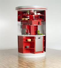 fantastic small design with round cabinet and arbon faucet also