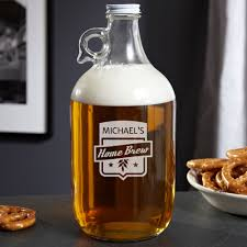 Cool Glassware Kitchen U0026 Dining Wonderful Personalized Growler And Beer Glass