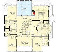 2nd floor plan third floor media room with kitchen and deck 23207jd