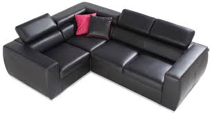 Modern Tufted Leather Sofa by Furniture Fascinating U Shaped Black Sofa And Cushions Added By