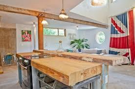 ilot cuisine bois massif salle à manger bois massif naturel sf architecture l îlot se