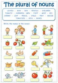 english exercises plural online exercise