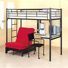 Bunk Bed Futon Combo Black Metal Loft Bed With Desk Coaster Furniture Size