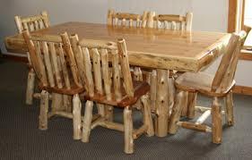 Log Dining Room Table Log Kitchen Table U2014 Barn Wood Furniture Rustic Barnwood And Log