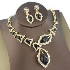 wedding jewelry necklace sets images Jiayijiaduo african beads jewellery set black crystal wedding jpg