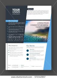 one page brochure template professional one page business flyer banner stock vector 572342857