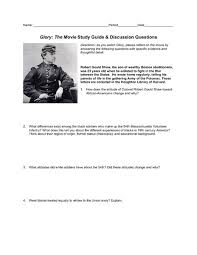 glory the movie study guide u0026 discussion questions 8th 12th