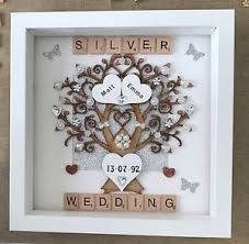 25th wedding anniversary gift personalised handmade silver th wedding anniversary on awesome