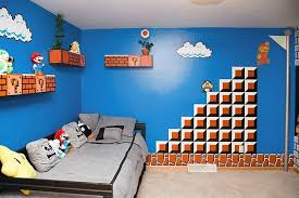 deco chambre ados thème minecraft ou mario pour la chambre du fiston alors quoi