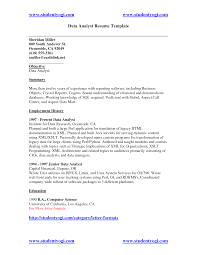 Business Systems Analyst Resume Sample by Data Analyst Resume Examples To Inspire You Vinodomia
