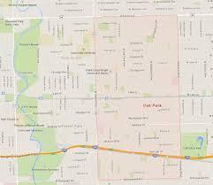 Naperville Il Map Oak Park Illinois Map
