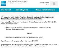 prepaid account amex is discontinuing target prepaid cards travel codex