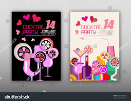 two cocktail party vector posters options stock vector 539699296