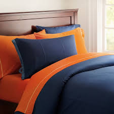 blue and orange bedding classic metro duvet cover pillowcase bright blue pbteen