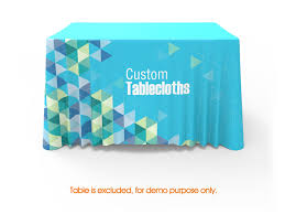 Teal Table L 4ft Table Throw Cover With Logo For Trade Show Signwin