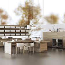 cuisine bois design tendance une cuisine bois et laque elle décoration