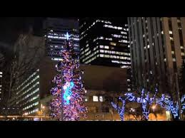 epcor lights up the edmonton christmas tree in churchill square