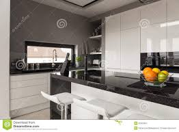 black and white kitchen design stock photo image 52560461