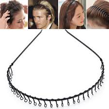 hair bands for men toothed hair band black metal headband sports football women men