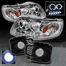 2000 F150 Tail Lights Ford F150 1997 2003 Clear Halo Projector Headlights And Led Fog
