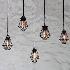 Cage Pendant Light Mullan Cage Pendant Light Cluster