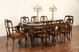 sold italian baroque carved 1930 u0027s vintage dining set table u0026 8