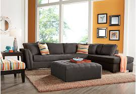 Sectional Sofas Rooms To Go by Cindy Crawford Home Calvin Heights Slate 3 Pc Xl Sectional Living