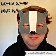 15 minute badger mask for halloween 365 days of crafts diy art