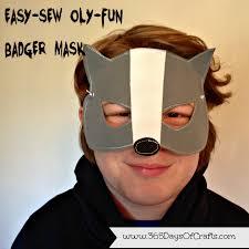 halloween craft masks 15 minute badger mask for halloween 365 days of crafts diy art