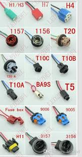 light bulb connector types h1 h3 ceramic female plug wire wiring harness socket adapters