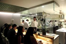 open kitchen interior design of aldea restaurant new york