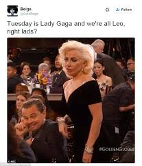 Leo Memes - twitter erupts with leonardo dicaprio and lady gaga golden globes