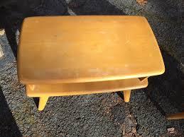Heywood Wakefield Corner Cabinet Pair Heywood Wakefield End Tables Attainable Vintage