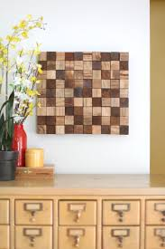 wood pieces for walls wooden mosaic wall diy a beautiful mess
