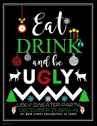 ugly sweater template postermywall
