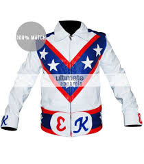 white motorcycle jacket evel knievel tribute white american motorcycle jacket costume