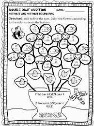 34 color by number addition worksheets kitty baby love