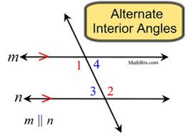 Define Interior Angle Angles And Parallel Lines Mathbitsnotebook Geo Ccss Math