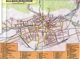 baia mare map clickable mosaic covering maramures county tourist map