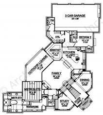 European House Plan by Barcelona European House Plans Luxury Floor Plans