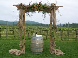 wedding arches decorated with burlap wedding arch burlap sunflowers country diy wedding 29349