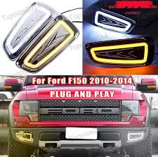 2013 ford f150 fog light replacement set car drl led daytime running lights with turning ls white