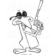 vector of a cartoon penguin agent coloring page outline by