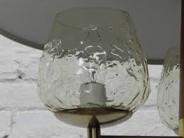 Modern Wine Glasses by Modern 1970s 3 Light Glass Metal U0026 Wood Retractable Hanging