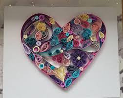 Heart Home Decor Quilled Heart Etsy