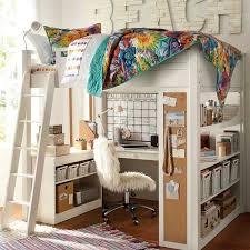 chambre ado avec lit mezzanine chambre fille en 105 idées de design et décoration chambre